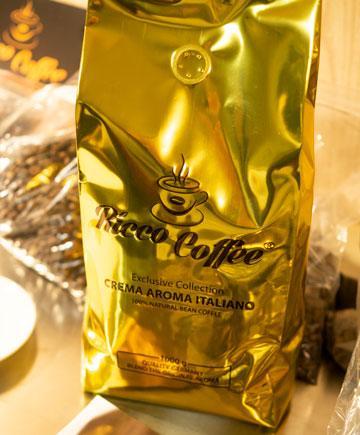 Кава в зернах Ricco Coffee Crema Aroma Italiano 1 кг зерна Кави