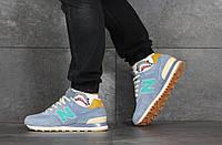 Мужские кроссовки New Balance 574 в цветах - свет фиолетовые, замша