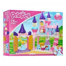 Конструктор JDLT 5303 Принцеси, замок, фігурки 2 шт., мебелі, 76 дет., кор., 47,5-37-9 см