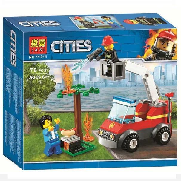 Конструктор BELA (Lary) 11211 CITY -  Пожар на пикнике (78 дет.)