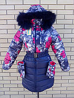 Модная зимняя курточка для девочки-подростка 36-42 размер, фото 1