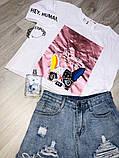Женская футболка со стразами / Турция 35-3359, фото 2