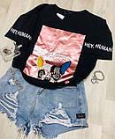 Женская футболка со стразами / Турция 35-3359, фото 3