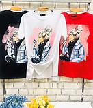 Женская футболка с камнями / Турция 35-3901, фото 4