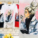Женская футболка с камнями / Турция 35-3901, фото 5