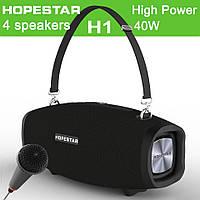 Портативная беспроводная стерео колонка Hopestar H1 c Караоке, Bluetooth, USB и MicroSD Черная