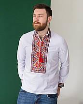 Чоловіча сорочка з червоною вишивкою Мирослав, фото 3