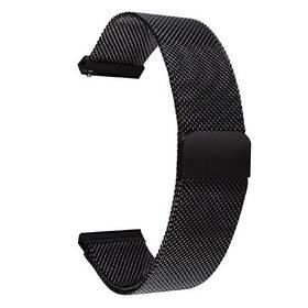 Браслет ремінець 20мм міланська петля Black ремешок для amazfit bip gts та ін