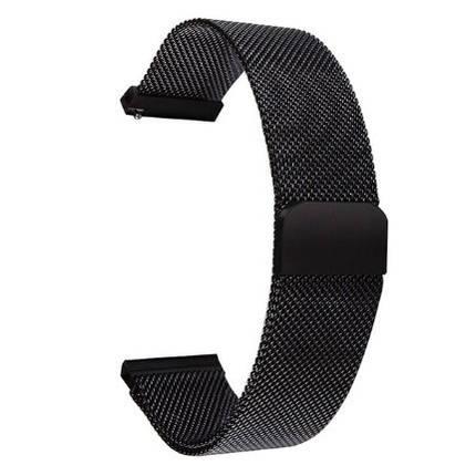 Браслет ремінець 20мм міланська петля Black ремінець для amazfit bip gts та ін, фото 2