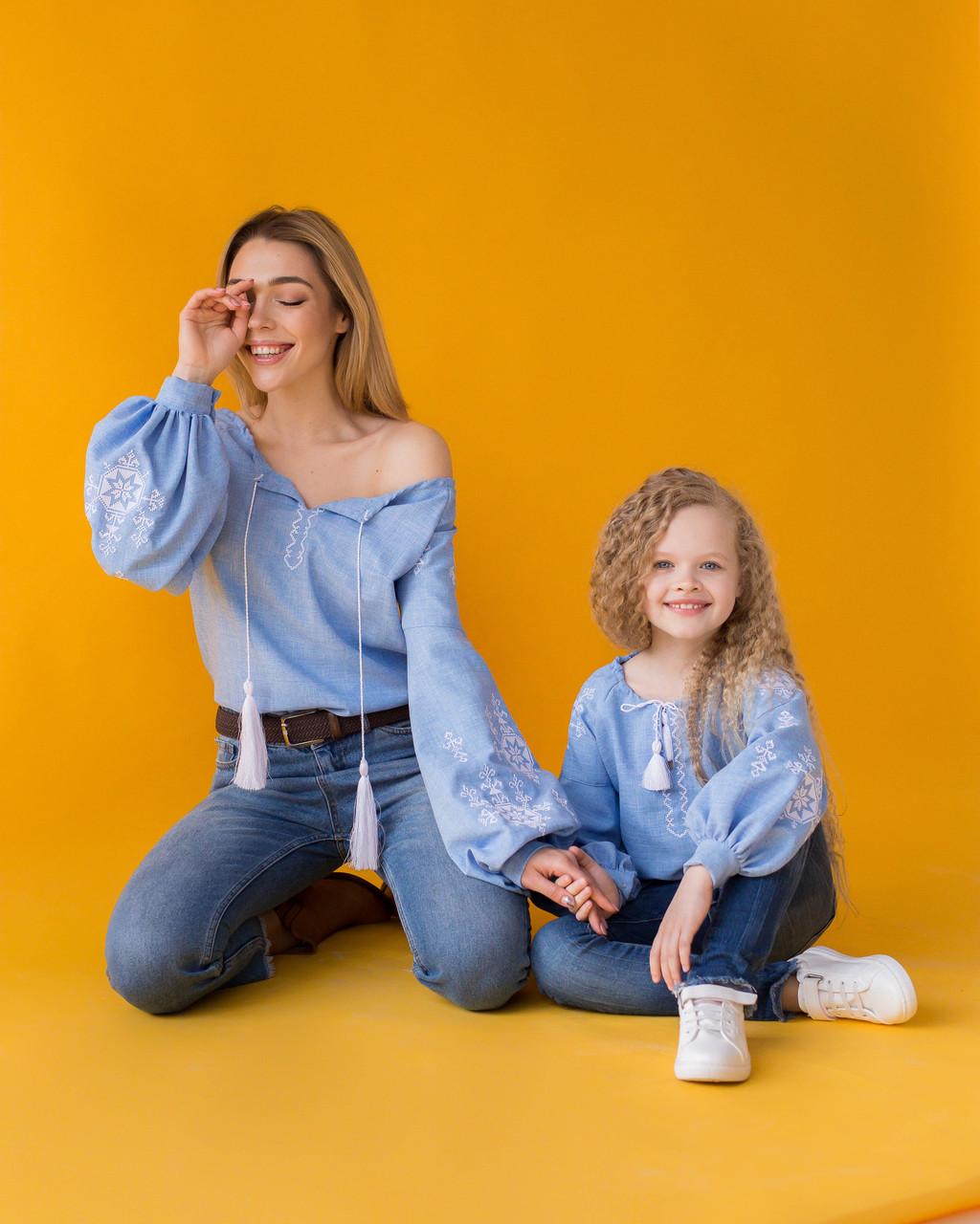 Парні вишиванки для мами і дочки Зірка