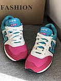Голубые яркие кроссовки в стиле New balance, фото 2