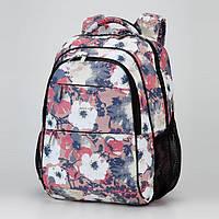 """Рюкзак ранец школьный Dolly 536 триx цвета с рисунком """"мака"""""""