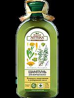 Шампунь    Календула   для нормальных и склонных к жирности волос      Зеленая аптека , 350 мл