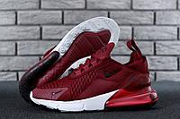 Женские кроссовки  Nike Air Max 270 красные ТОП реплика