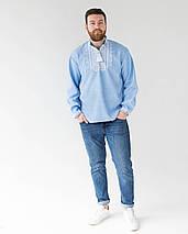 Чоловіча джинсова вишиванка Орнамент Зірка, фото 3