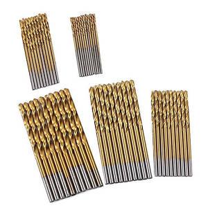 50x Сверло спиральное по металлу 1-3 мм, набор