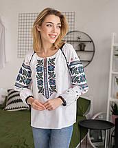 Жіноча борщівська орнаментована вишиванка, фото 2