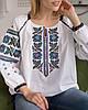Жіноча борщівська орнаментована вишиванка, фото 4