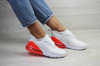 Женские кроссовки в стиле Nike Air Max 270, сетка, пена, белые с помаранчевым. 36 (23 см)