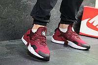 Мужские кроссовки в стиле Nike Air Huarache, бордовые 42 (26,8 см)