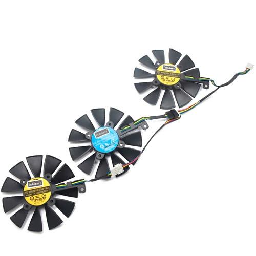 Вентилятори 3шт 87мм 12В PLD09210S12M PLD09210S12HH ASUS Strix GTX 1080