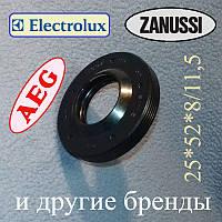 """Сальник 25*52*8/11,5 """"WLK"""" для пральної машини Electrolux, Zanussi, AEG і т. д."""