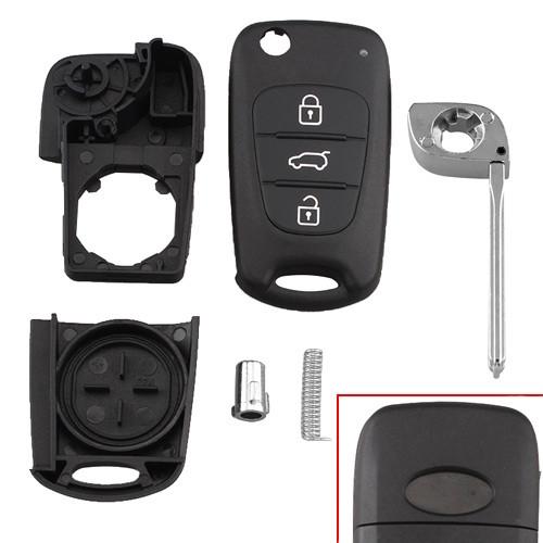Викидний ключ запалювання, заготівля корпус під чіп, 3 кнопки, KIA
