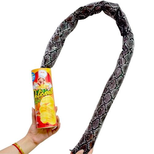 Выпрыгивающая змія, чіпси в банку зі змією 1.3 м розіграш прикол