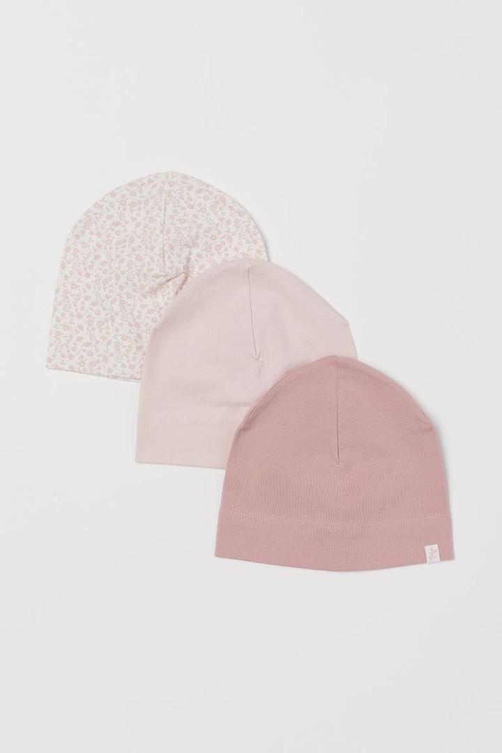 Детские трикотажные шапочки для девочки (поштучно)