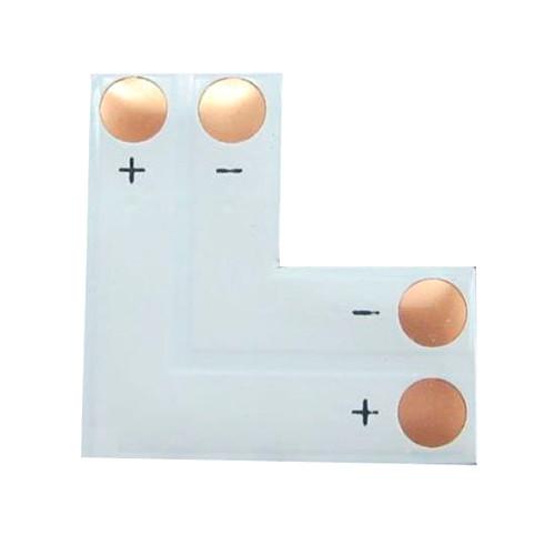 Коннектор L-образный для светодиодных лент 10мм SMD 5050 WS2811 WS2812