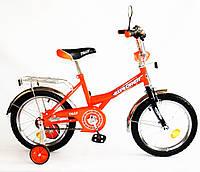 Детский двухколесный велосипед 18 дюймов EXPLORER оранжевый