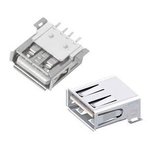 Роз'єм USB 2.0 мама 4pin AF 90 градусів SMT SMD