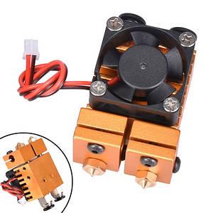 Хотэнд экструдер двойной Химера E3D V6, 2 сопла для 3D-принтера