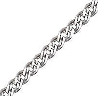 Родированная серебряная цепочка НОННА, МОНА ЛИЗА 5 мм, 65 см