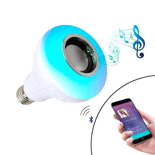 Умная LED RGB Лампа с Bluetooth динамиком 6+3Вт, пультом ДУ, музыкальная
