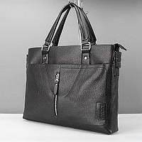 Портфель модерн кожзам черный 6001-4, фото 1