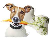 Подушка «Пёс с морковкой!»