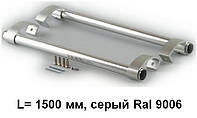 Ручка дверна пряма 1500 мм, сіра Ral 9006.