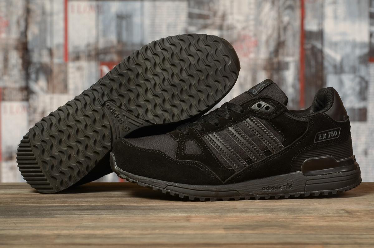 Кроссовки мужские 16763, Adidas ZX 750, черные, < 41 43 44 45 > р.41-26,5