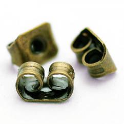 Заглушки Monisto Железо 5х3.5мм Отверстие 0.8-1мм Цвет: Бронза 100шт