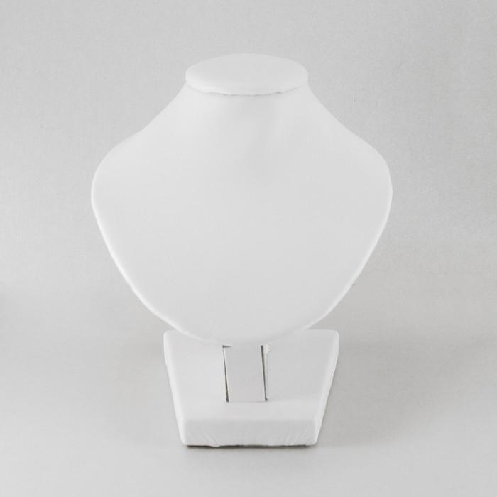 Бюст Искусственная Кожа, Белый, Размер: Высота 11 см, Ширина 10 см, Толщина 6.5 см/ Упак.: 1 шт