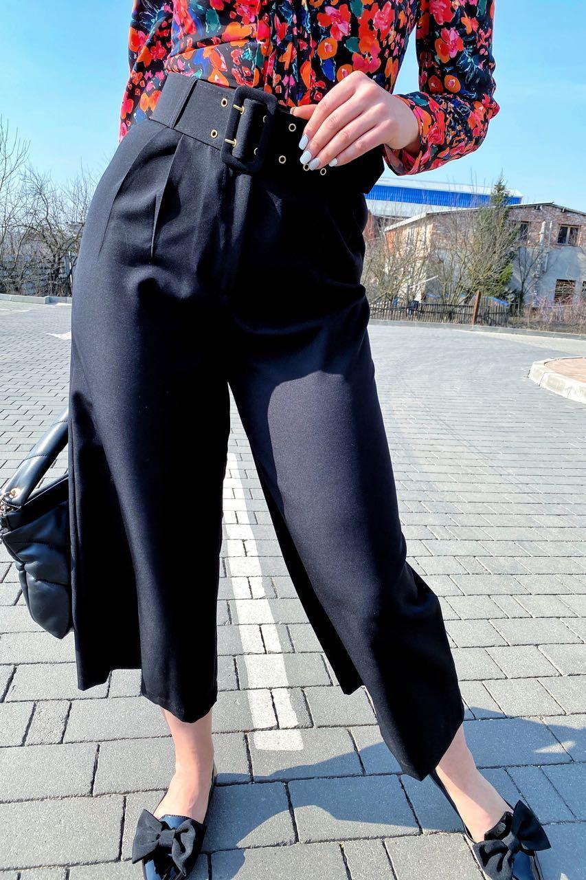 Шикарные кюлоты с высокой талией  PERRY - черный цвет, M (есть размеры)