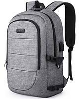 Рюкзак TEAMWIN с USB-портом + вход для наушников Grey (TN4781), фото 1