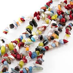 Бусины Monisto Ассорти Камней Крошка 5-8х5-8мм Цвет: Микс Цветов около 80см/нить