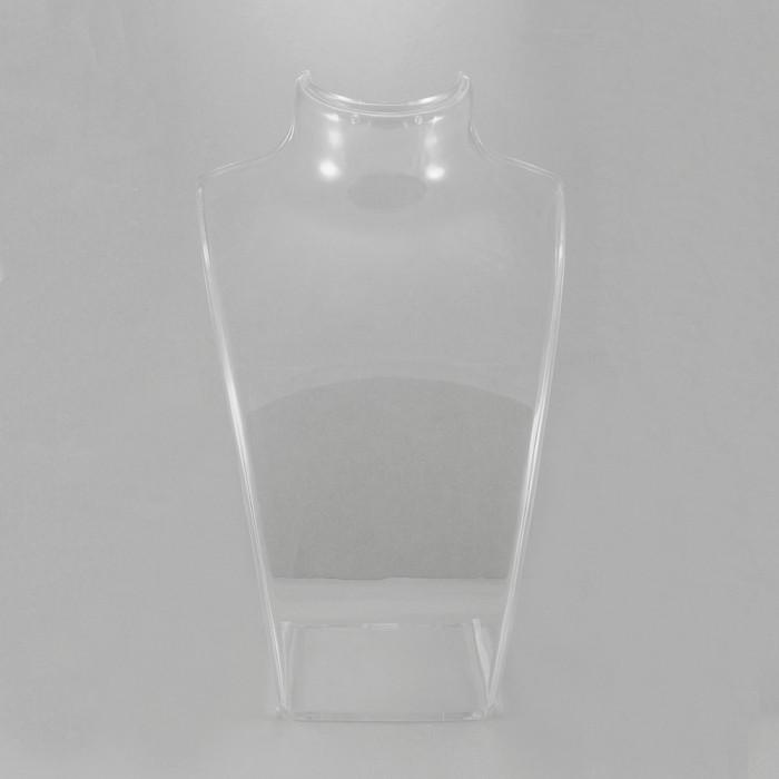 Бюст из Органического Стекла, Бесцветный, Размер: Высота 21 см, Ширина 13.5 см, Толщина 6.4 см/ Упак.: 1 шт