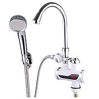 Проточный водонагреватель ZERIX ELW08-EP (с индик. темп. и УЗО) (ZX2750)
