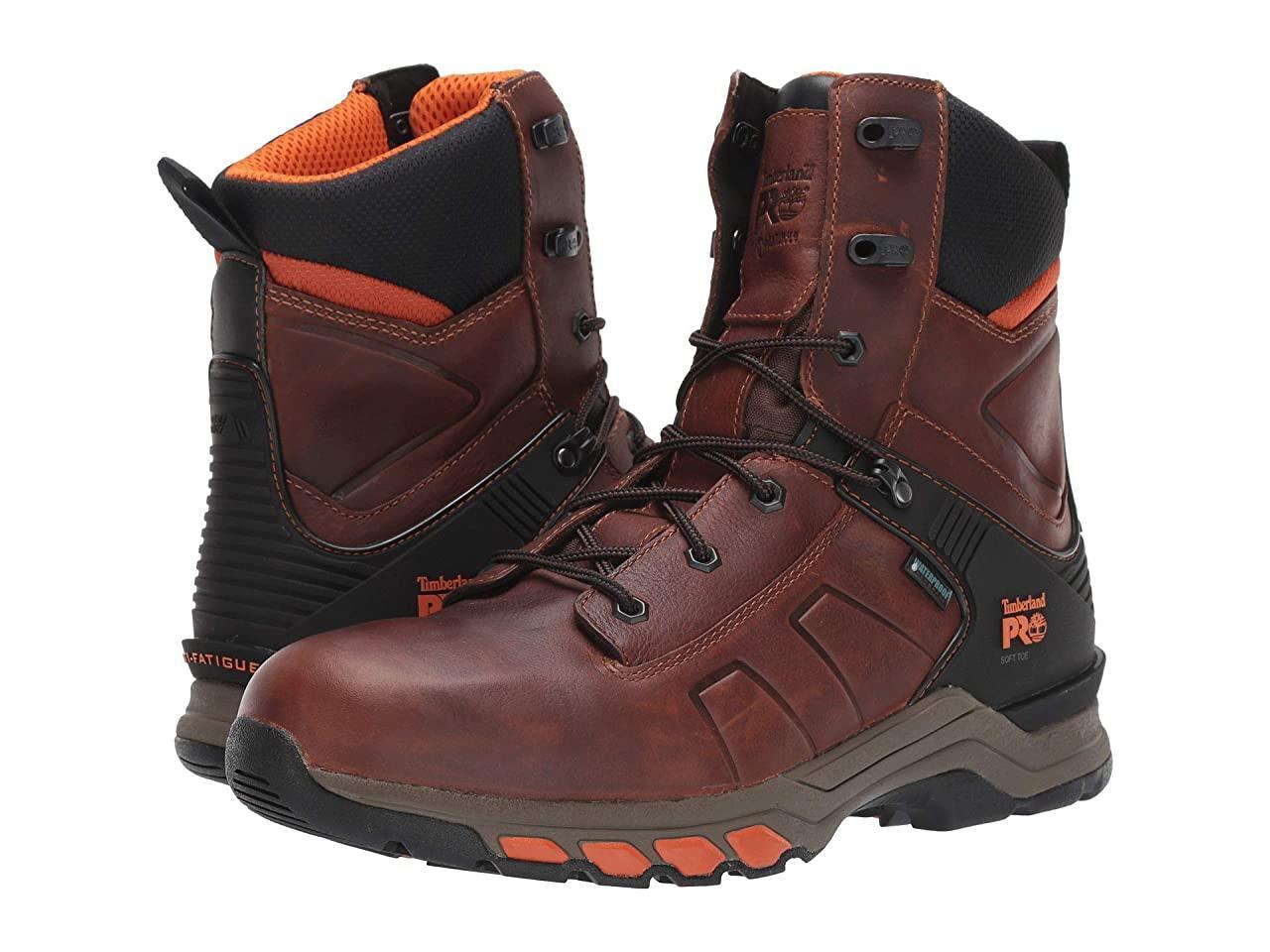 "Ботинки/Сапоги (Оригинал) Timberland PRO 8"" Hypercharge Soft Toe Waterproof Brown Teak Trailblazer"