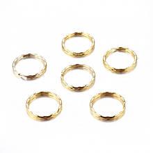 Кольцо Замочек, для Брелков и Ключей, Железное, Цвет: Золото, Диаметр 25мм, Толщина 1мм, (УТ100005130)
