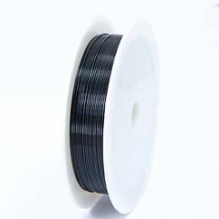 Железная Проволока 0.5мм/7м, Цвет: Черный, Толщина 0.5мм, 7м/катушка
