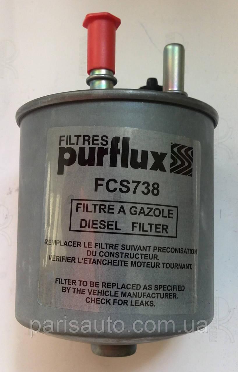 Топливный фильтр в сборе Renault Kango II 1,5 dCi с датчиком  PURFLUX FCS738